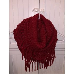 Red Sparkle Infinity Scarf